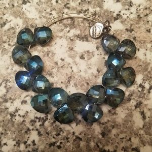 Alex and Ani Blue Jewel Bracelet